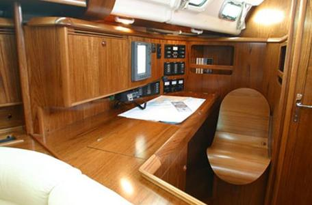 Jeanneau sun odyssey 49 luxury sail boat rent charter greece char table pic17